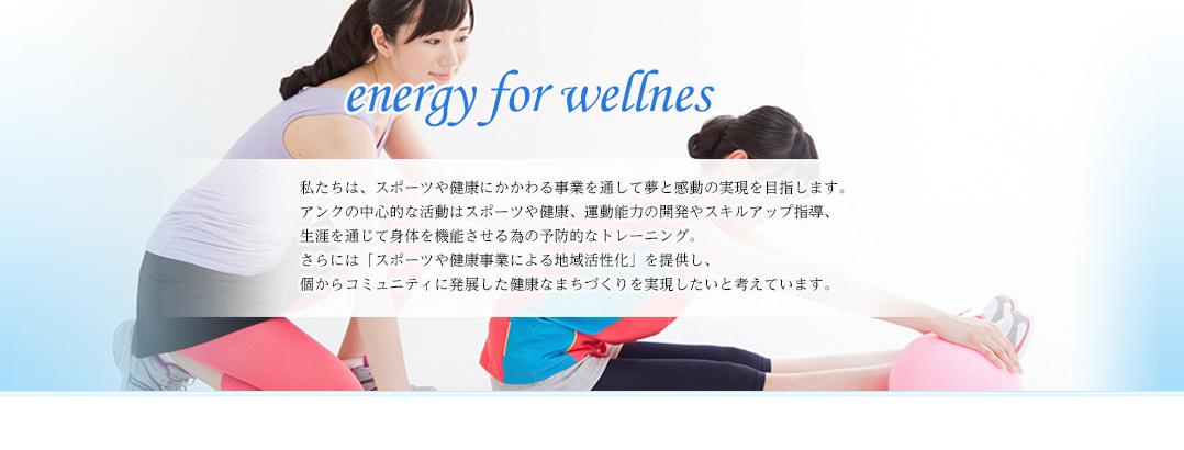 株式会社アンクenergy for wellnes